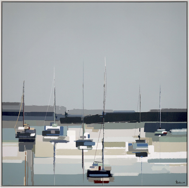 Art Gallery - Harbour Reflections - Artist Sabrina Roscino - Framed Print For Sale - Surrounds West Byfleet Surrey