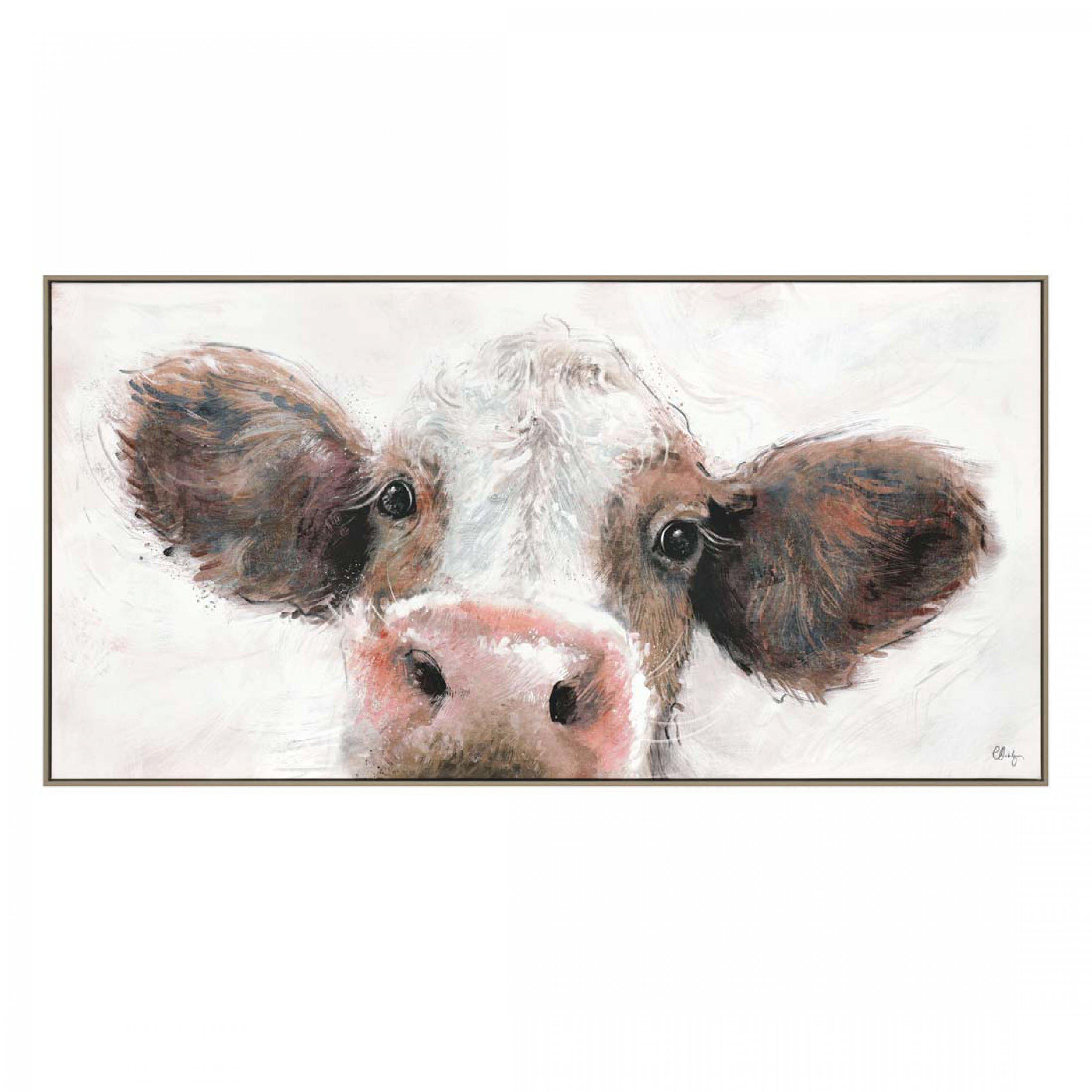 Art Gallery - Jethro - Cow Painting by Artist Charlotte Oakley - Framed Print For Sale - Surrounds West Byfleet Surrey