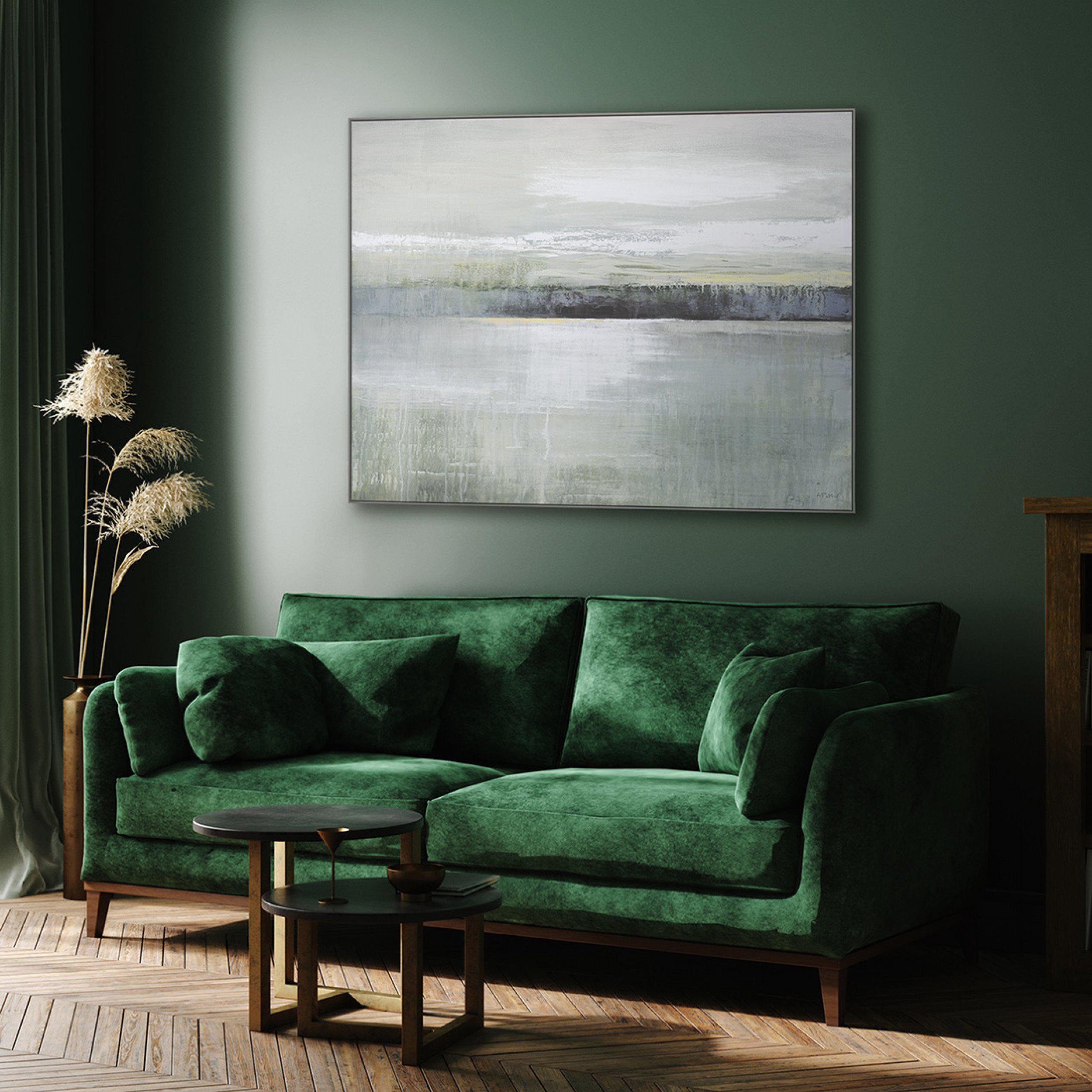 Art Gallery - Olive - Painting by Artist Adelene Fletcher - Framed Print For Sale - Room Display