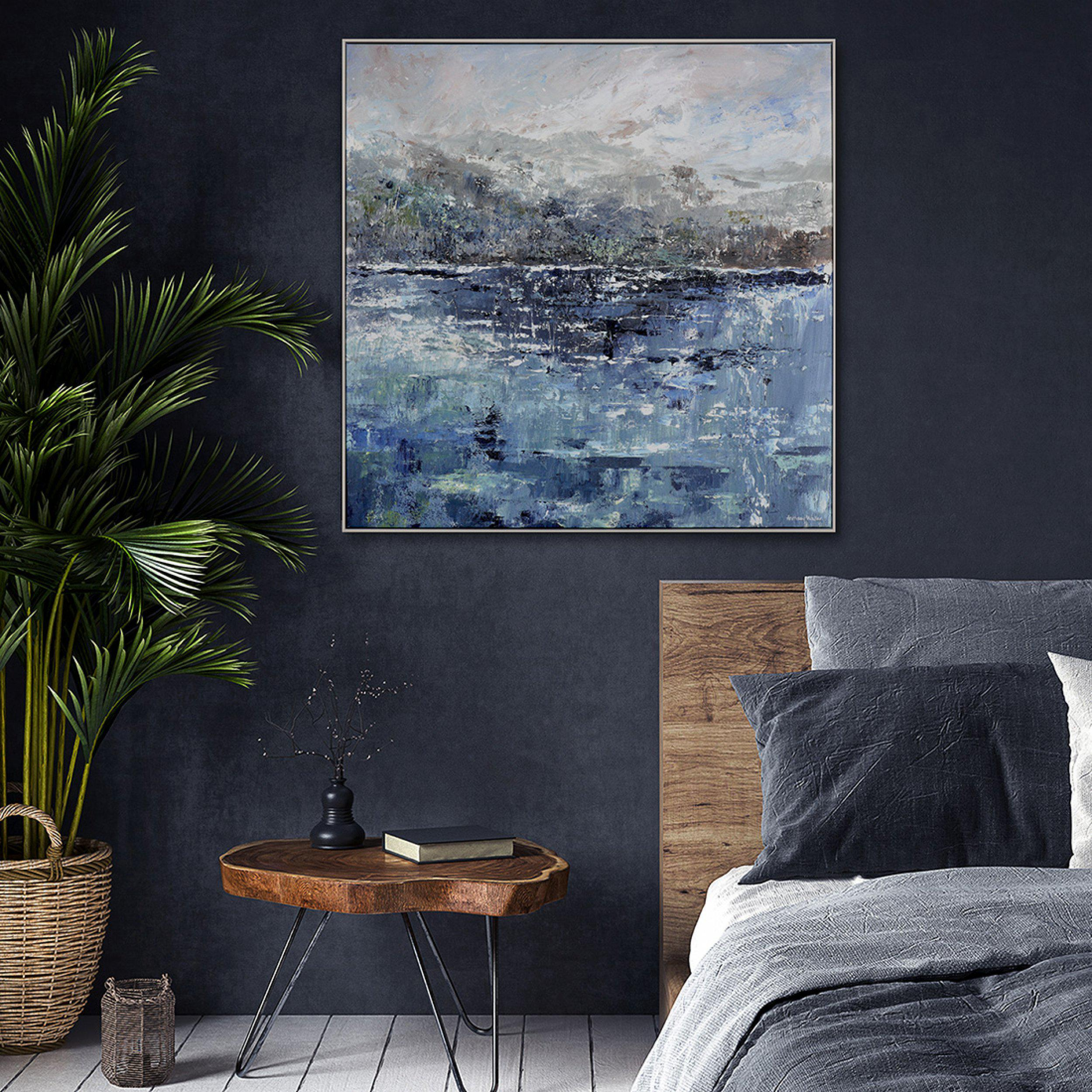 Art Gallery - Ripple Effect Painting by Artist Anthony Waller - Framed Print For Sale - Room Display