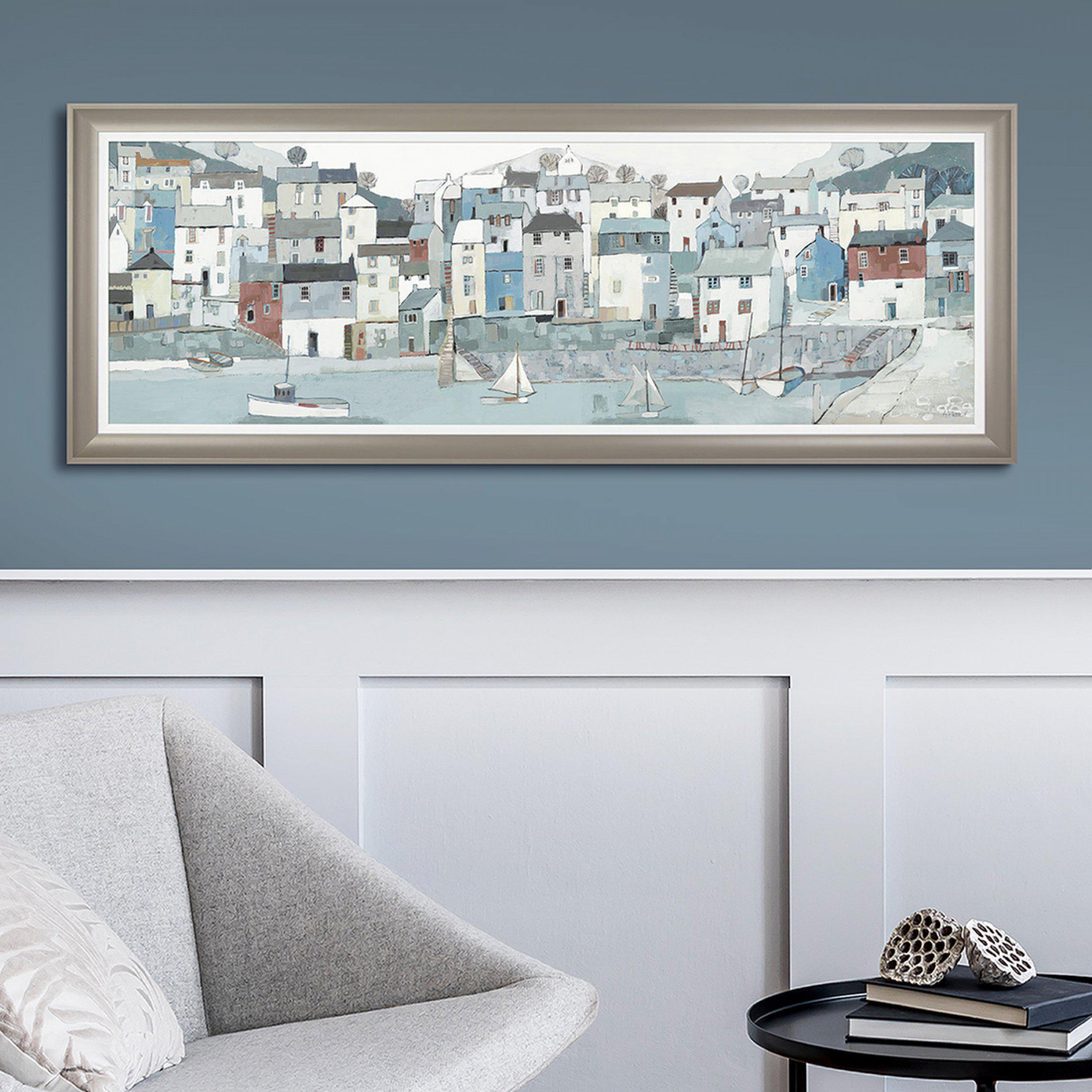 Art Gallery - Shoreline Painting - Artist Adelene Fletcher - Framed Print For Sale - Room Display