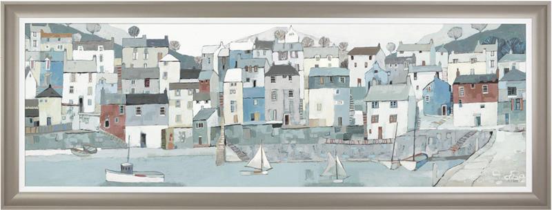 Art Gallery - Shoreline Painting - Artist Adelene Fletcher - Framed Print For Sale - Surrounds West Byfleet Surrey