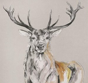 Art Gallery – Stag Standing Proud Painting by Artist Gracie Tapner – Framed Print For Sale – Surrounds Surrey
