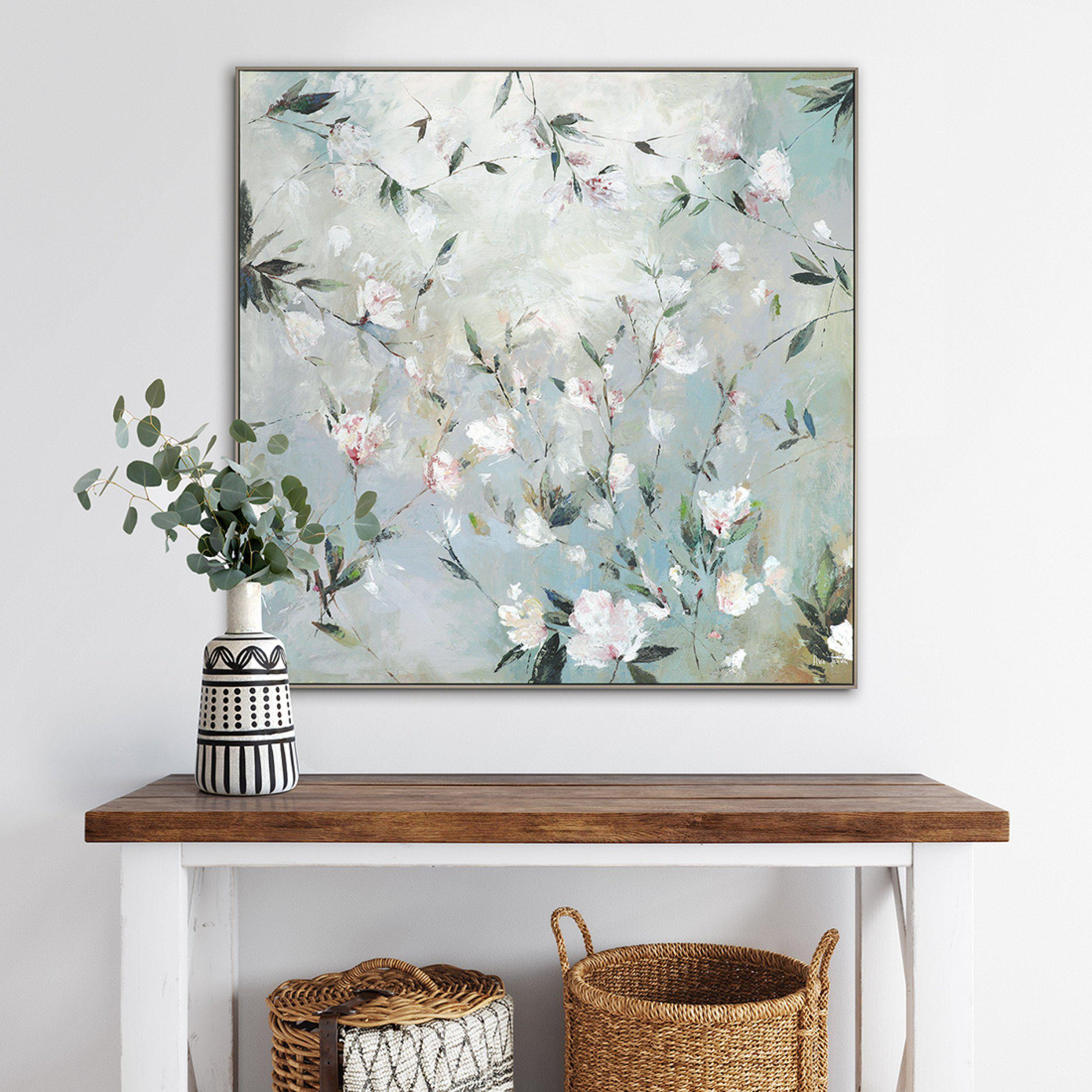 Confetti - Tree Blossom Painting by Artists PI Creative Art - Framed Print For Sale - Room Display