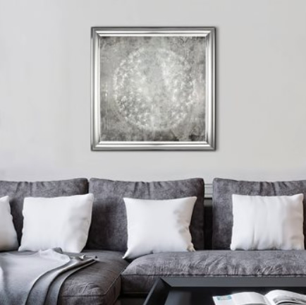Dandelion Clock Charm - Framed Art Print For Sale - Room Display