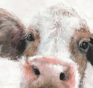 Art Gallery – Jethro – Cow Painting by Artist Charlotte Oakley – Framed Print For Sale – Surrounds West Byfleet Surrey