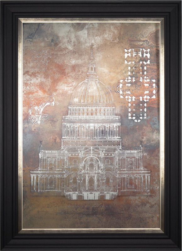 St Pauls Cathedral - London Art Gallery - Artist Amy Todd - Framed Print For Sale - Surrounds West Byfleet Surrey