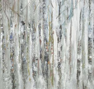 Wall Art Gallery – Sunlit Birch Trees – Woodland Painting by Artist Anthony Waller – Framed Print For Sale