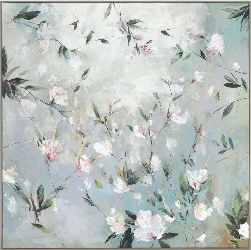 Wall Art Gallery - Confetti - Tree Blossom Painting PI Creative Art - Framed Print For Sale - Surrounds West Byfleet