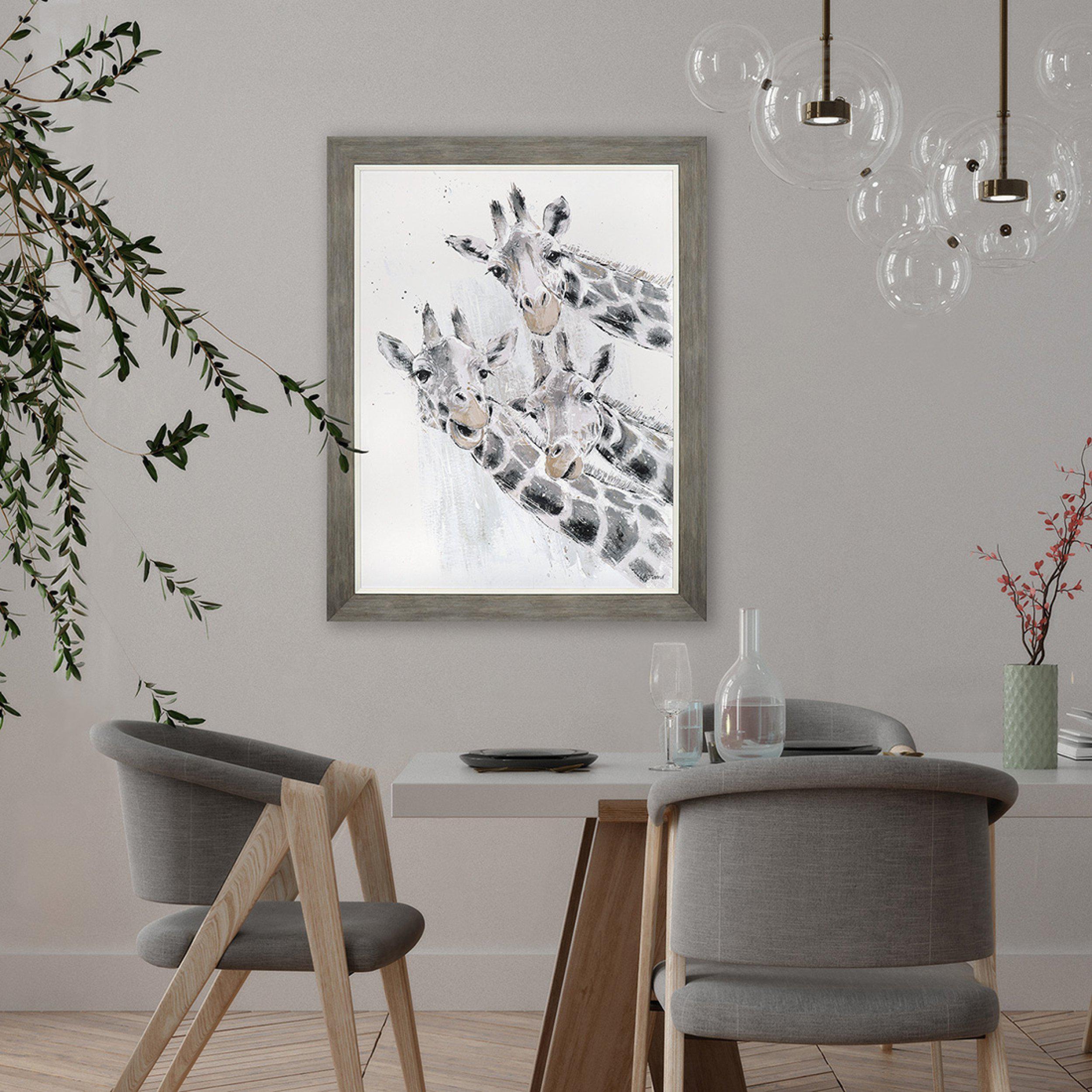 Wall Art Gallery - Leaning Tower - Giraffes Painting by Artist Adelene Fletcher - Room Display