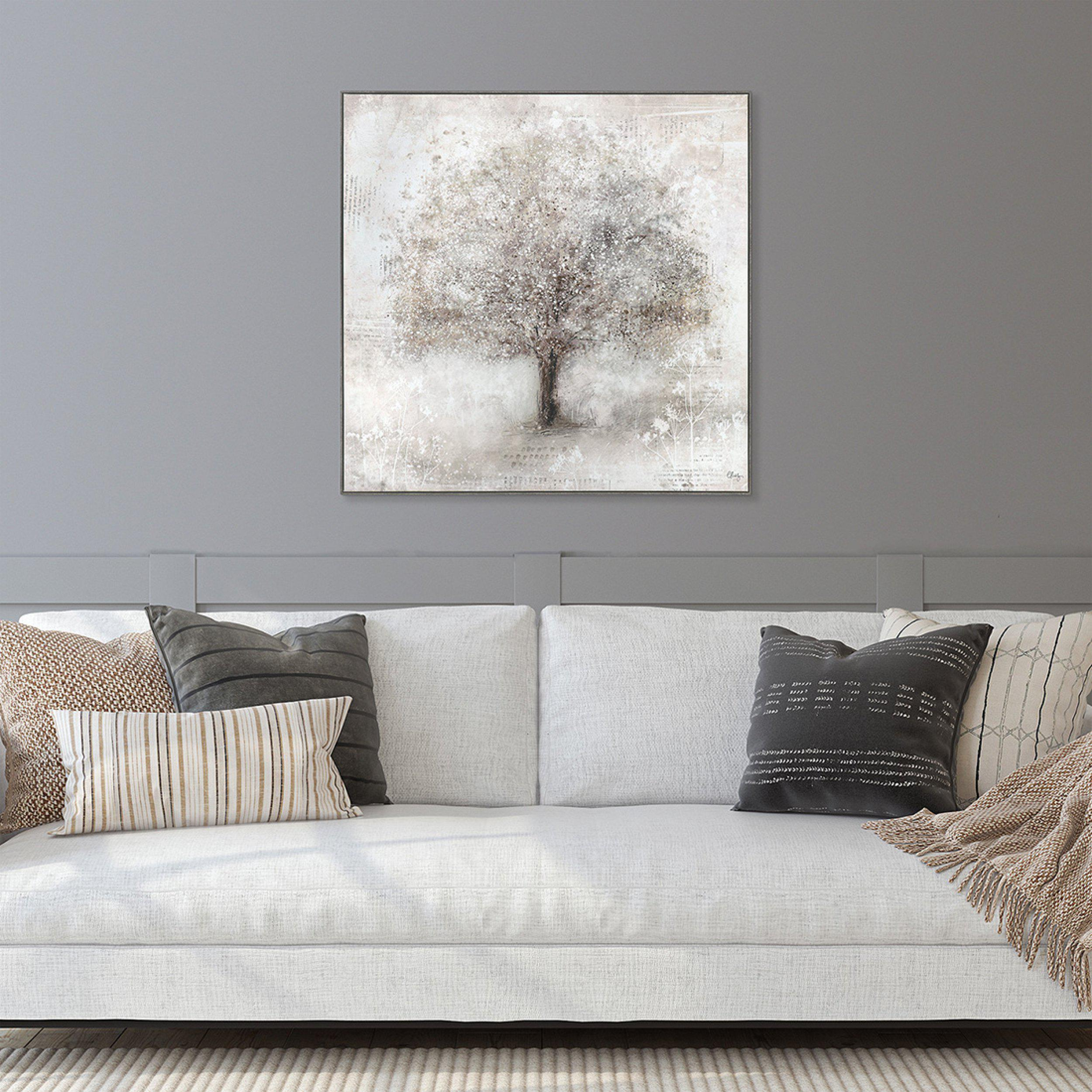 Wall Art Gallery - Stateley Tree Painting by Artist Charlotte Oakley - Framed Print For Sale - Room Display