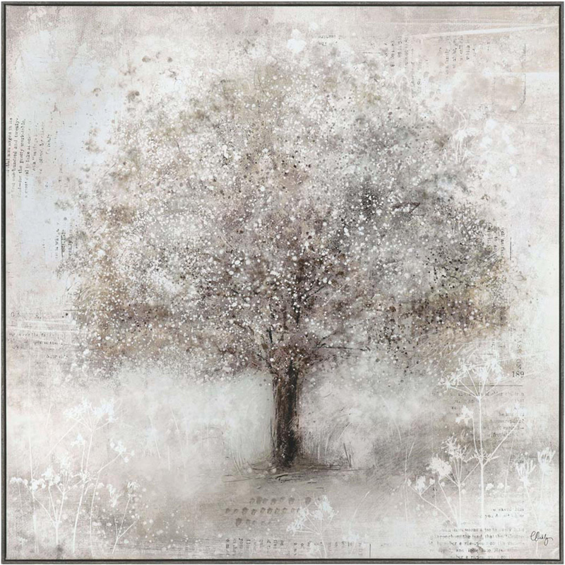 Wall Art Gallery - Stately Tree Painting by Artist Charlotte Oakley - Framed Print - Surrounds West Byfleet Surrey